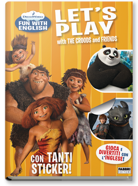 Copertina di: Dreamworks Fun with English. Let's Play with the Croods and Friends