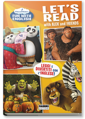Copertina di: Dreamworks Fun with english. Let's read with Alex and friends